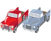 Old trucks. For carrying any kind of loading Royalty Free Stock Image