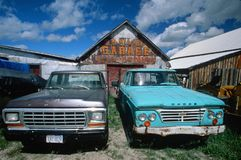 Old trucks in Montana Stock Images