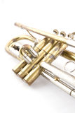 Old trumped. Close up of brass vintage trumpet Stock Photography