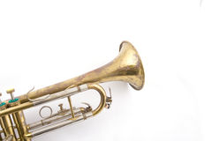 Old trumped. Close up of brass vintage trumpet Royalty Free Stock Images