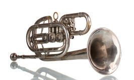 Old trumpet Stock Images