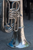 Old trumpet. Stand on the street Stock Image
