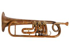 Old trumpet Royalty Free Stock Image