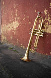 Old Trumpet Brick Wall Royalty Free Stock Photography