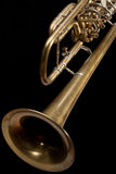 Old trumpet. Royalty Free Stock Image