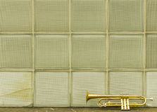 Old Trumpet Windows Stock Photography