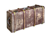 Old trunk (chest) isolated. On white background Royalty Free Stock Photos