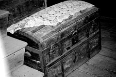 Old trunk. An old trunk/chest from the 1800's Royalty Free Stock Photo