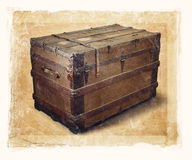 Old Trunk Stock Image