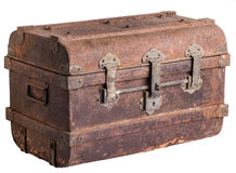 Old Trunk. Isolated on white background Stock Images
