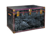 Old trunk isolated. On white background Royalty Free Stock Photo