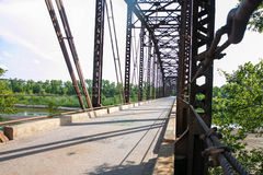 An Old Truss Bridge Crossing the South Canadian River #3 Stock Photography