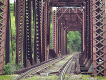 Old Truss Train Bridge Stock Photos