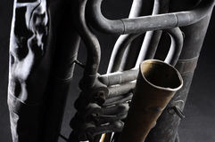 Old tuba mechanism Royalty Free Stock Photography