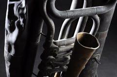 Old tuba mechanism Royalty Free Stock Photography