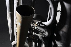 Old tuba mechanism Royalty Free Stock Image