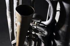 Old tuba mechanism Royalty Free Stock Image