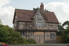 Old tudor house. Old derelict tudor house in ireland Stock Image