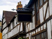 Old tudor house. View of an old tudor house in Tewkesbury in Gloucestershire, Great Britain Royalty Free Stock Photos