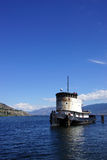 Old tug boat moored on Lake Okanagan Royalty Free Stock Photo