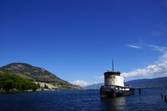 Old tug boat moored on Lake Okanagan Royalty Free Stock Photos
