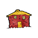 old tumbledown house cartoon Stock Photography