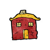 Old tumbledown house cartoon Stock Photos