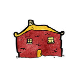 Old tumbledown house cartoon Royalty Free Stock Photos
