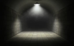Old tunnel. Old dark abandoned tunnel background vector illustration