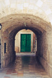 Old tunnel and a door Royalty Free Stock Images