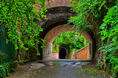 Old tunnel in the garden Royalty Free Stock Photography