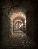 Old tunnel with light at the end Royalty Free Stock Image