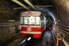 Old Tunnel Line in Istanbul city Royalty Free Stock Photos