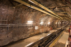 Old Tunnel Line Royalty Free Stock Images