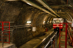 Old Tunnel Line from Karakoy to Istiklal Street, Istanbul Stock Image