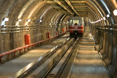 Old tunnel metro from Karakoy to Taksim Stock Photos