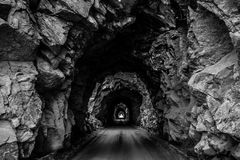 Old Tunnel Mountain Pass in Colorado royalty free stock photo