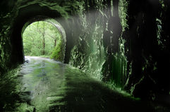 Old tunnel of the Plazaola�s Royalty Free Stock Photo