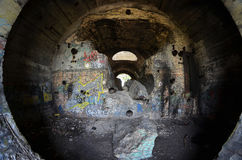 Old tunnel of Stalin. Part of Kiev defense line in WW2 time Stock Photo