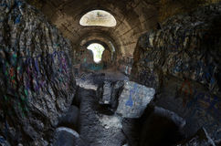 Old tunnel of Stalin. Part of Kiev defense line in WW2 time Royalty Free Stock Image