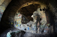 Old tunnel of Stalin. Part of Kiev defense line in WW2 time Royalty Free Stock Images