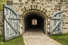 Old tunnel of stone Royalty Free Stock Photos