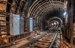 Old Tunnel subway in moscow Stock Image