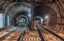Old Tunnel subway in moscow Royalty Free Stock Photo