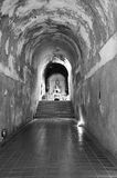 Old tunnel in temple in Chiang Mai, Thailand. Old tunnel of Wat Umong Suan Puthatham temple in Chiang Mai Thailand royalty free stock photo