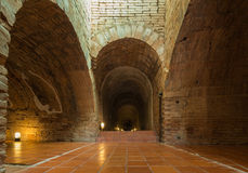 Old tunnel in Umong temple. Old tunnel in Wat Umong temple royalty free stock image