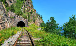 Old tunnel under highest mountain Royalty Free Stock Photos