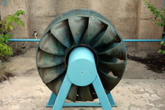 An old turbine at the big chute Stock Image
