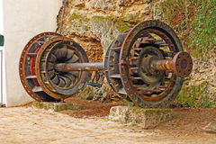 Old turbine from power plant Stock Photos