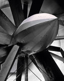 Old turbine in wind research tunnel Royalty Free Stock Photography